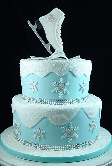Ice Skate Cake Ice Skating Cake Winter Cakes Birthday Roller