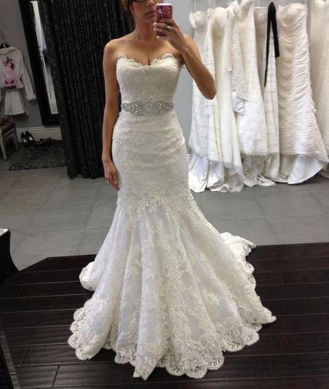5e9b01b3870 Sexy Appliques Mermaid Tulle Wedding Dress