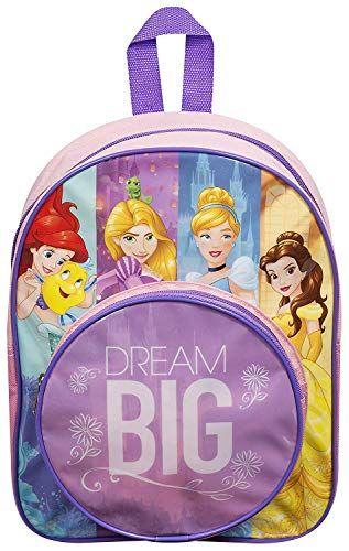 "Lunch bag Kids Girl DISNEY PRINCESS Dare to Dream 15/"" Backpack School Book Bag"