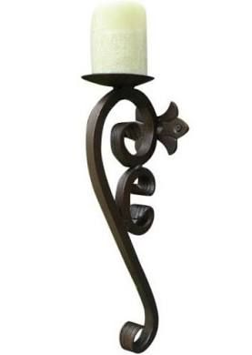 Candle Holder Custom Handcrafted Wrought Iron Wall Sconce With
