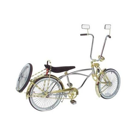 NEW LOWRIDER STEERING WHEEL  GOLD FLAT TWISTED FOR BICYCLES