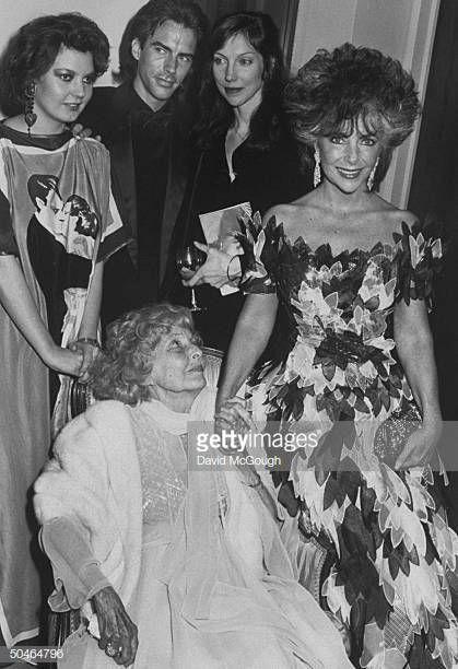 Actress Elizabeth Taylor W Her Daughter Maria Burton Carson