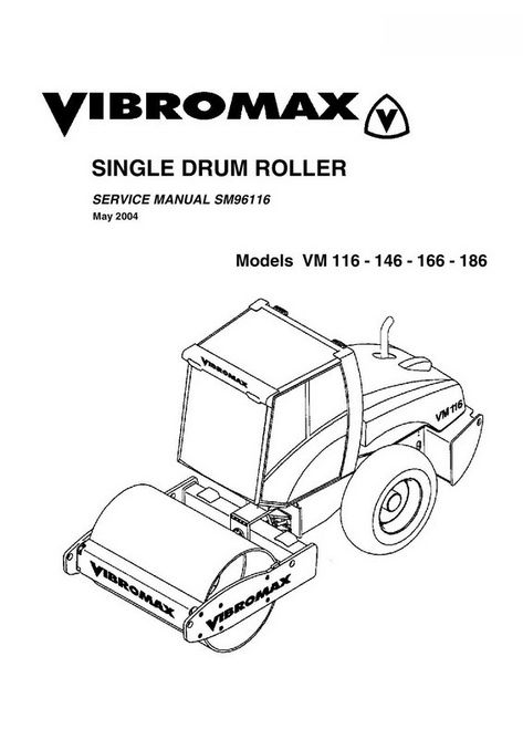 Vibromax VM116, VM146, VM166, VM186 Single Drum Roller