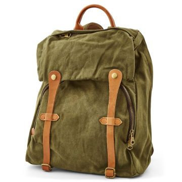 Grön Canvas Pullup Rygsäck | Delton Bags | Fri frakt
