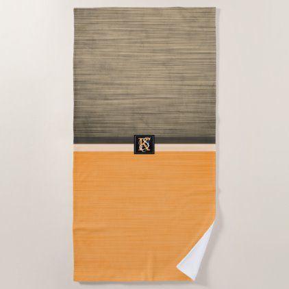 St Patrick S Bright Orange Shamrocks On White Beach Towel In 2020