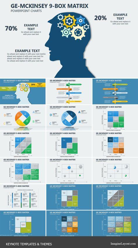 GE McKinsey Matrix Keynote Charts Templates