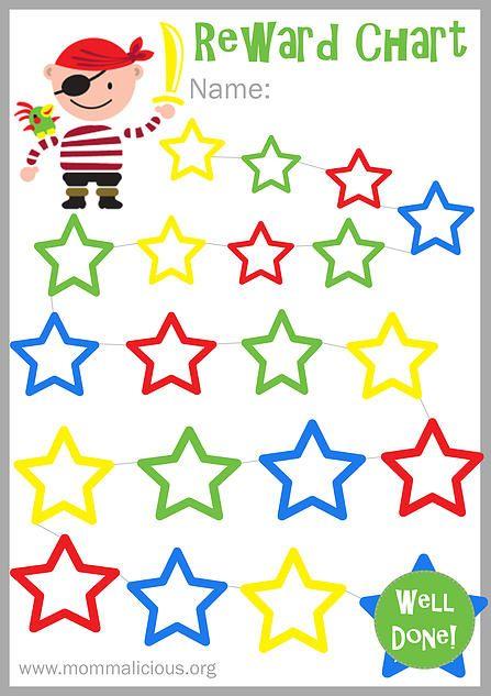Mommalicious Parenting website Reward Charts - Free Printable - blank reward chart