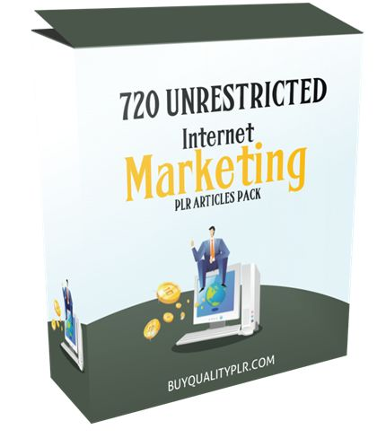 720 Unrestricted Internet Marketing PLR Articles Pack