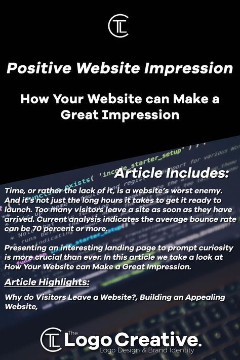 How Your Website can Make a Great Impression