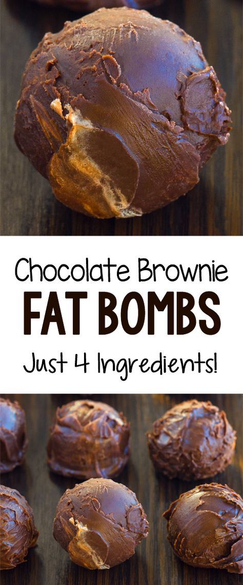 These four ingredient chocolate keto brownie bombs are so delicious #brownie #fatbomb #ketorecipe #glutenfree #budgetrecipe #keto #lowcarb #chocolaterecipes #veganrecipes #fitness #health #healthysnack #desserts #recipes