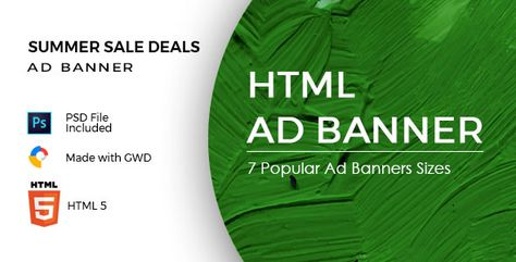 Summer Sale Deals – HTML Ad Banners | Codelib App