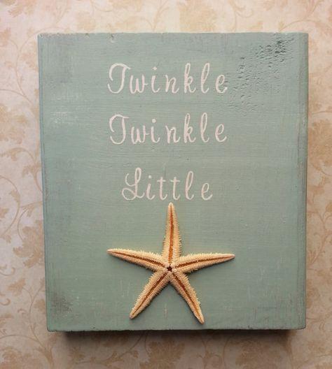 Twinkle Twinkle Little Starfish Nautical Nursery or Beach Nursery Decor by BurlapAndLaceCA, $30.00 #