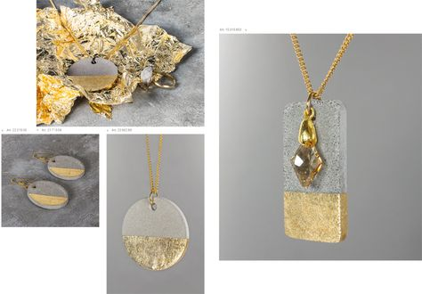 : Jewelry made of concrete – concrete jewelry – decorative concrete