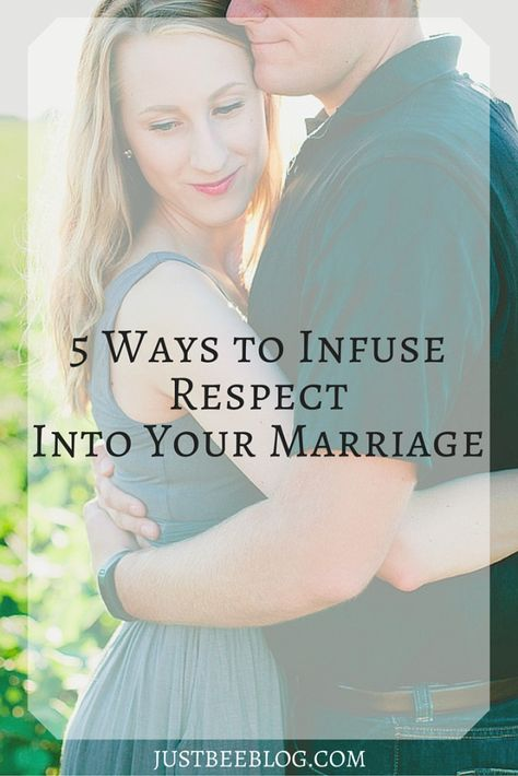 Respect in marriage is sometimes a delicate subject. Here's my take on it! 5 Ways to Infuse Respect Into Your Marriage - Just Bee