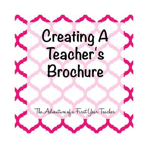 The Adventure of a First Year Teacher : Teacher Brochure