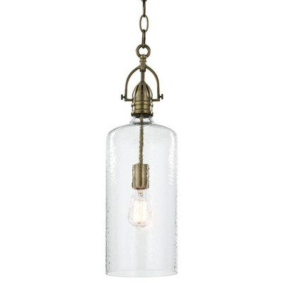 Regina Andrew 1 Light Single Cylinder Pendant With Images Bar Pendant Glass Bar Light