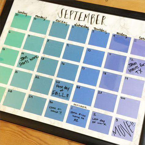 Lisa loves John: DIY Paint Chip Calendar                                                                                                                                                      More