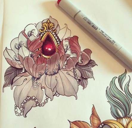 Trendy Flowers Tattoo Men Traditional Ideas