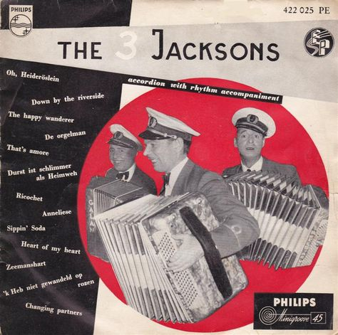 The 3 Jacksons  The 3 Jacksons  A: Accordion With Rhythm Accompaniment - 1 B: Accordion With Rhythm Accompaniment - 2 Philips Netherlands422 025 PE