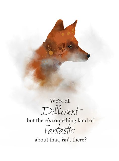 Fantastic Mr Fox Quote ART PRINT Roald Dahl, Nursery, Gift, Inspirational, Wall Art, Home Decor, quotes, watercolour, gift ideas, birthday, christmas, We're all Different but there's something kind of Fantastic about that, isn't there #FantasticMrFox #Quote #fox #ARTPRINT #RoaldDahl #Nursery #Gift #Inspirational #WallArt #HomeDecor #quotes #watercolour #giftideas #birthday #christmas