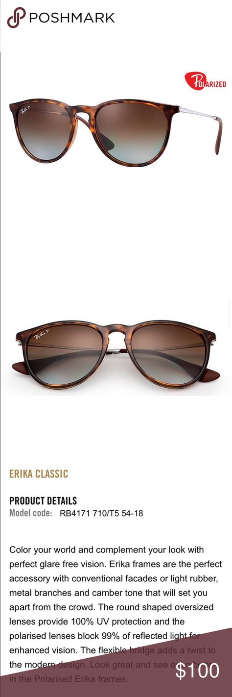 c516924487 Ray Ban Erika Polarized Tortoise Brown Description posted above. Hard to  get a read good