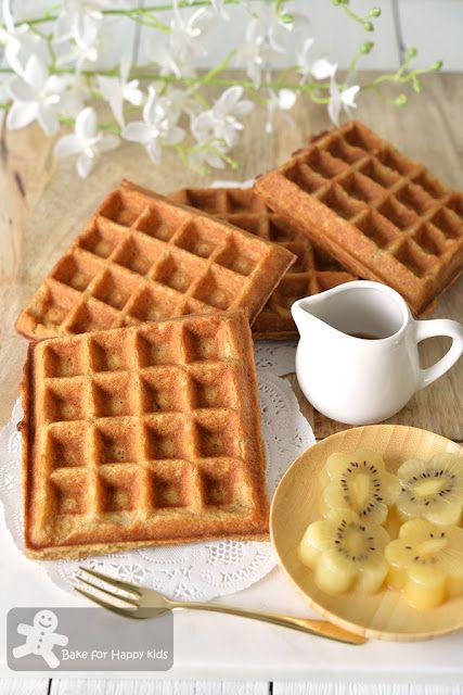 Bake For Happy Kids Crispy Butter Nestum Cereal Waffles Highly Recom Waffles Crispy Waffle Food