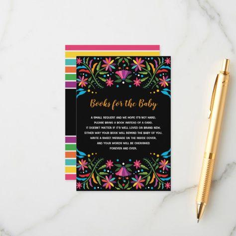 Mexican Fiesta Books for Baby Senorita Floral Enclosure Card