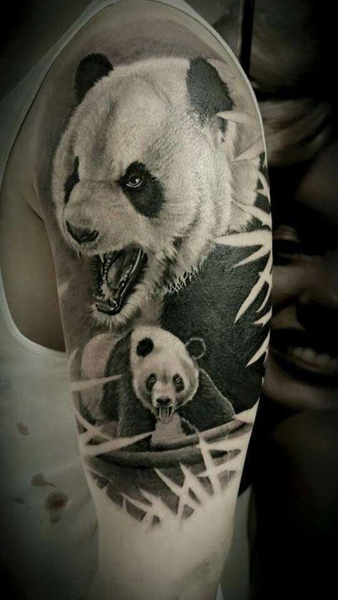 Panda realistic tattoo | Panda Tattoos | Bear tattoos ... - photo#30