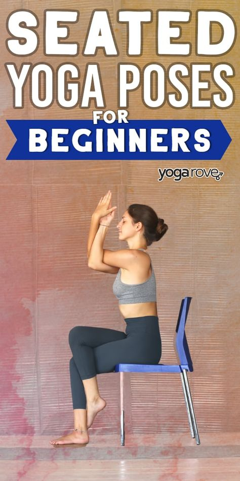 Here are the best 25 seated yoga poses for beginners, perfect for anyone who has. Here are the best 25 seated yoga poses for beginners, perfect for anyone who has sensitive knees or looking to do yoga at their desk! Mat Yoga, Yoga Bewegungen, Yoga Moves, Vinyasa Yoga, Yoga Art, Sitting Yoga Poses, Seated Yoga Poses, Cool Yoga Poses, Chair Yoga Poses