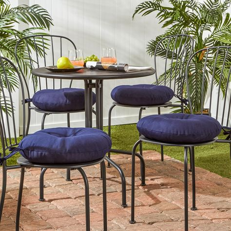 Greendale Home Fashions 15 Round Bistro Patio Seat Cushion Bistro Chairs Dining Chair Cushions Outdoor Dining Chair Cushions