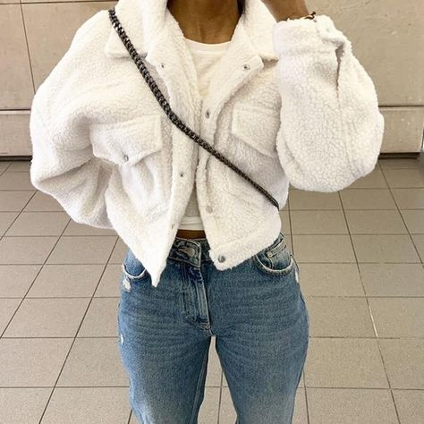 Cozy Pocket Jacket - White / S