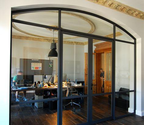 8punkt8 » Archiv » Stahl- Glaswand Glogauerstr büro raumteiler