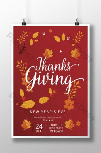 Thanksgiving Day Poster Template Ai Free Download Pikbest In 2020 Poster Template Thanksgiving Day Teachers Day Poster