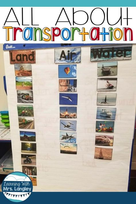 Transportation Unit and a FREE Bulletin Board Template