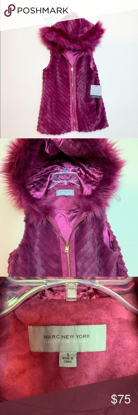 Marc New York Vest Purple.