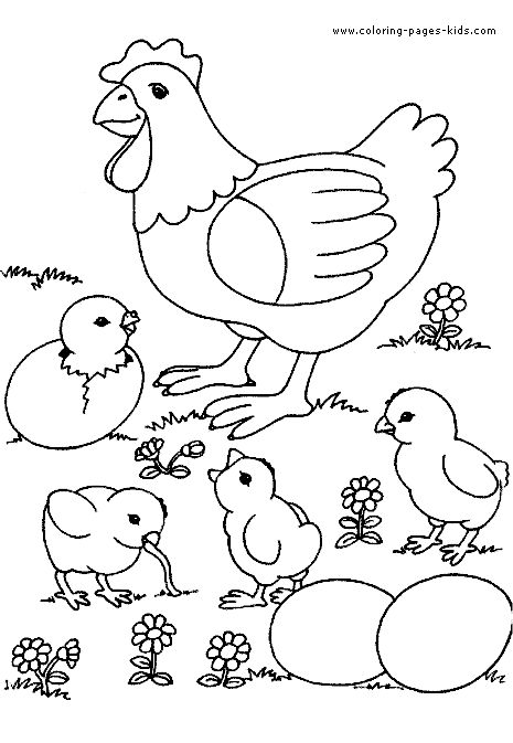 free printable chicken coloring pages | free printable coloring page ...