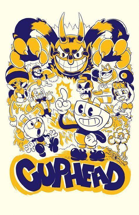 Cuphead Matt Ferguson Art Print Game Mugman