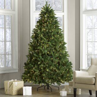 The Holiday Aisle Pre Lit 9 Red Pine Artificial Christmas Tree With 900 Red Lights Wayfair In 2020 Artificial Christmas Tree Frosted Christmas Tree Christmas Tree