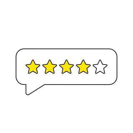 Feedback Or Rating Rank Level Of Satisfaction Rating Five Stars Customer Prod Aff Rank Le Graphic Design Photography Vector Illustration Illustration