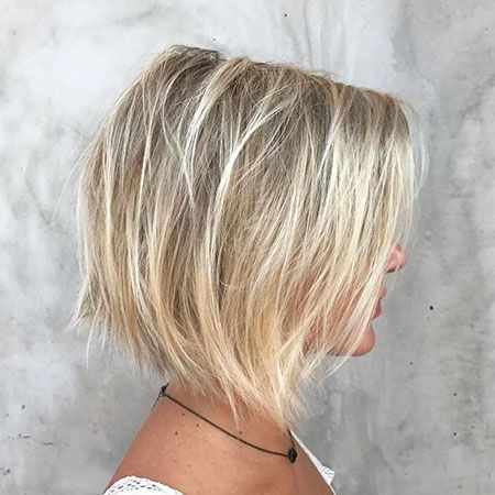 Bob Haircuts For Fine Hair Textured Haircut Blonde Balayage Bob Bobs For Thin Hair
