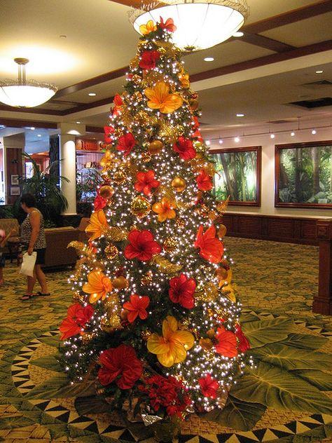 Christmas In Hawaii Decorations.Hawaiian Christmas Tree Christmas Trees Hawaiian