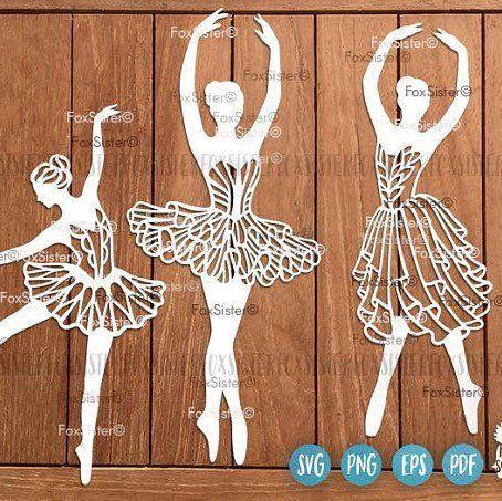 Bailarina bailarina de forma simple forma de Madera Mdf De Corte Láser Craft Arte Decoración