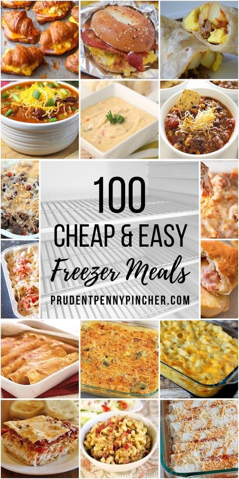 These cheap and easy freezer meals are the perfect make-ahead option for busy weekdays. From casseroles to soups, there are plenty of delicious freezer-friendly recipes. meals recipes 100 Cheap and Easy Freezer Meals Freezer Friendly Meals, Make Ahead Freezer Meals, Freezer Cooking, Frugal Meals, Budget Meals, Kid Meals, Camping Meals, Meals That Freeze Well, Backpacking Meals