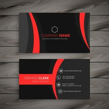 Dark Modern Red Black Business Card Template Vector Design Illustration Black Business Card Colorful Business Card Modern Business Cards