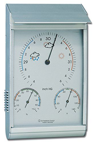 Weather Station Analog Barometer Thermometer Hygrometer Aluminum See This Great Product This Is An Aff Weather Station Hygrometer Weather Instruments