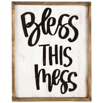 Gentil Bless This Mess Framed MDF Wall Art | Hobby Lobby | 1295302 | Back  Room