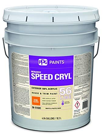 Acrylic Paint White Semi Gloss 5 Gal Speed Cryl Exterior Paint For House And Trim House Trim Exterior Paint House Painting
