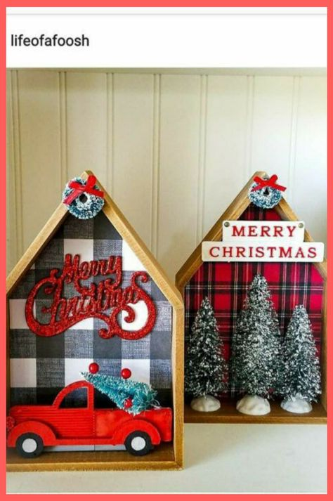 Dollar Tree Houses Christmas decor