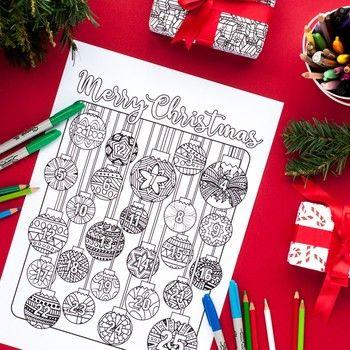 Christmas Coloring Advent Calendar Printable 8 5x11 Pdf Coloring Page Christmas Coloring Pages Christmas Printable Activities Printable Advent Calendar