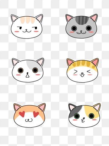 Cartoon Cute Stick Figure Cat Head Animal Expression Element Cat Cartoon Lovely Png Transparent Image And Clipart For Free Download Cara De Gato Dibujo Dibujos Kawaii De Animales Cara De Gato